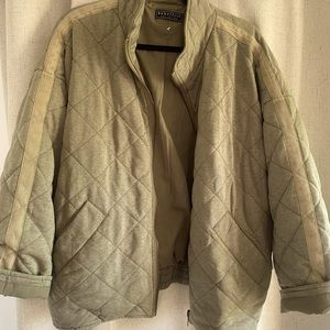 Free People Quilted Dolman Jacket Dupe  Bagatelle NWT Medium Olive Green